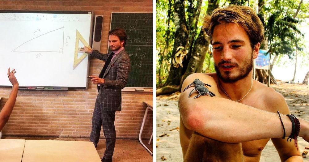 Этот учитель математики из Нидерландов настолько горяч, что глядя на него у вас проснётся тяга к точным наукам