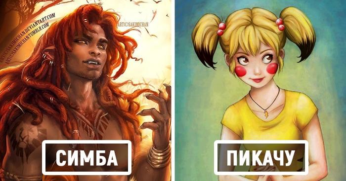 Художники представили, как выглядели бы герои наших любимых мультфильмов, будь они людьми. Получилось очень непривычно