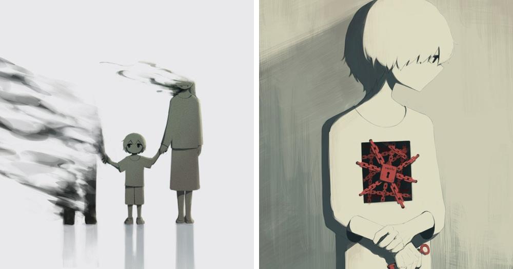 Японский художник рисует иллюстрации, которые очень точно передают смысл наших чувств, которые иногда сложно выразить словами