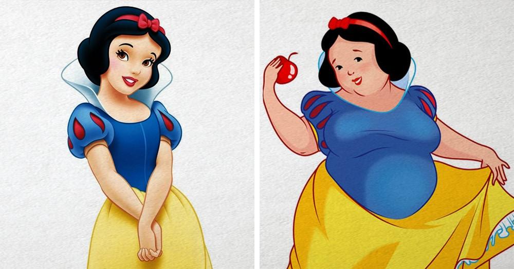 Художница представила, как выглядели бы диснеевские принцессы, люби они плюшки больше своих принцев