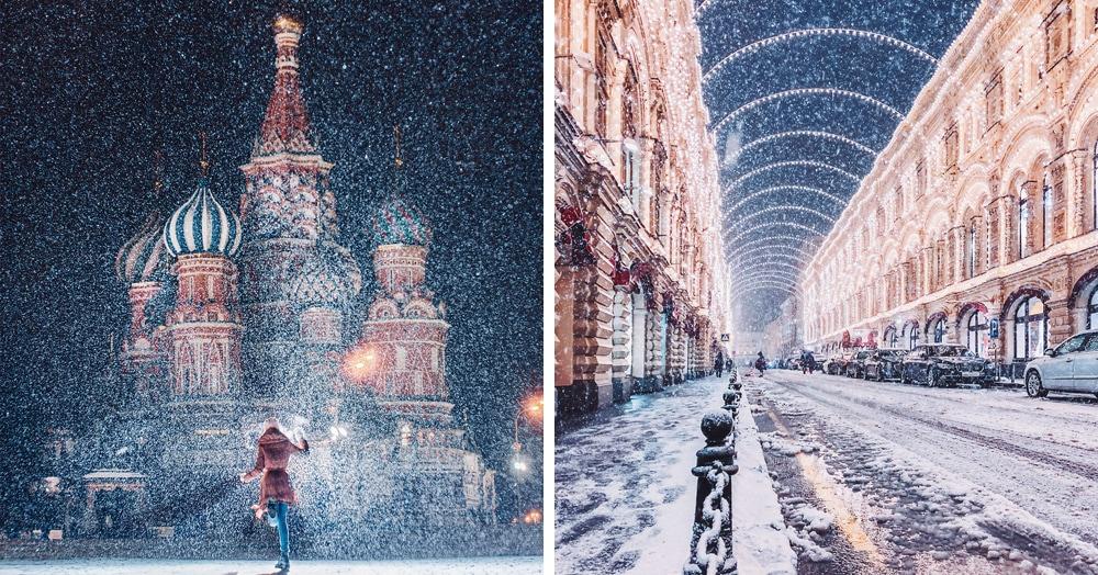 Москву завалило аномальным количеством снега, и это заставило многих остаться дома, но только не этого отчаянного фотографа