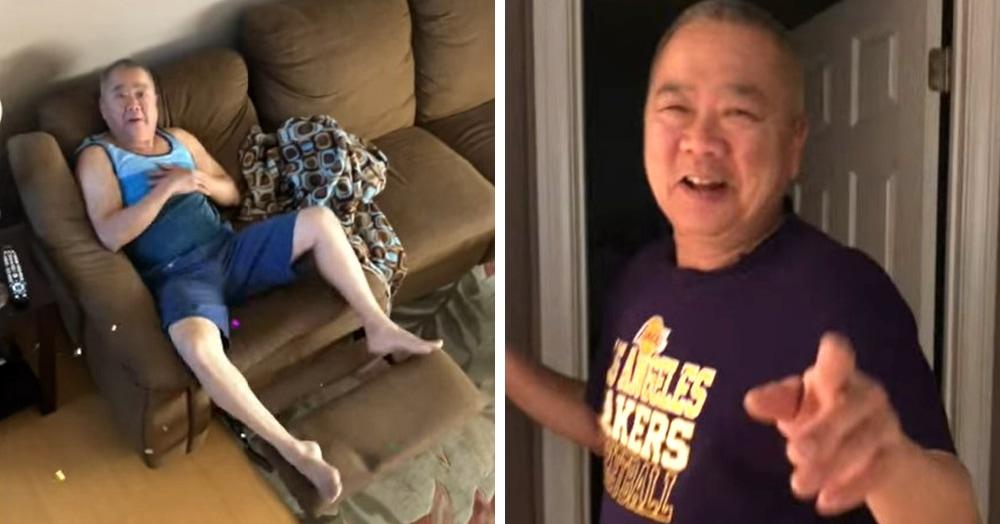 Дочка пугает отца хлопушкой с конфетти и выкладывает в сеть видео с его забавной реакцией. И у интернета есть к ним только один вопрос