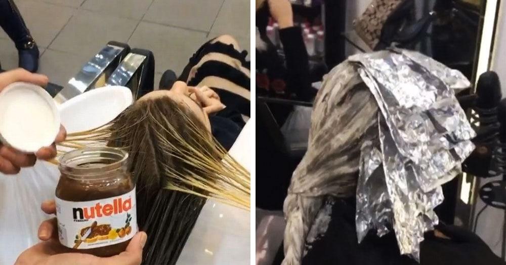 Все едят Нутеллу, но даже и не догадываются, что её можно использовать и в покраске волос. И да, результат крутой