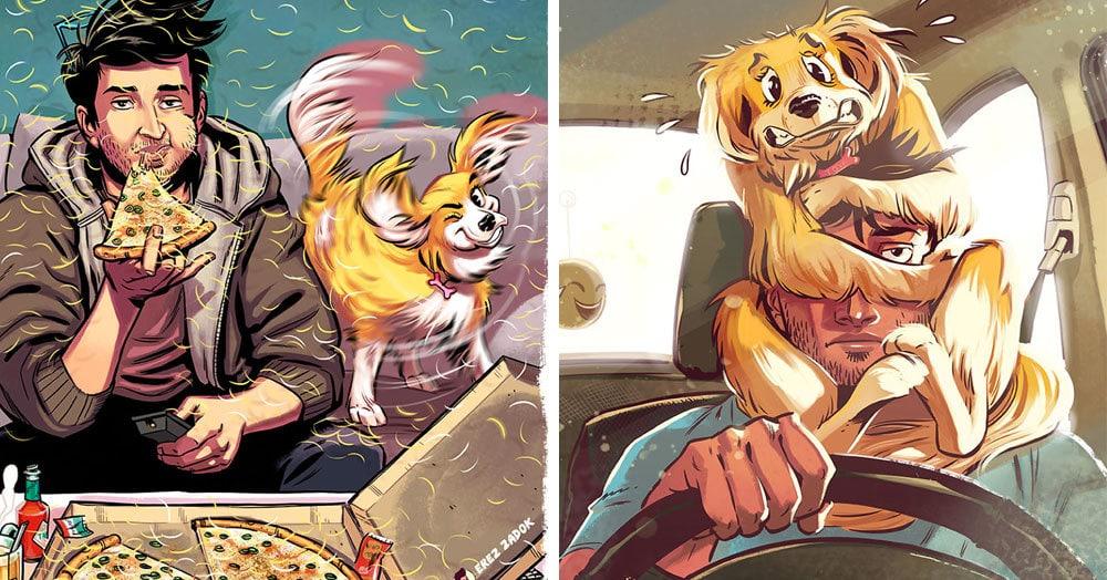 Художник рисует забавные и честные комиксы о жизни со своей любимой собачкой, в которых каждый пёсовладелец непременно узнает себя