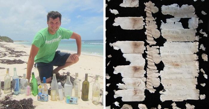 Мужчина посвятил свою жизнь поиску бутылок с посланиями и рассказывает о находках у себя в блоге. Уже нашёл 25 адресатов