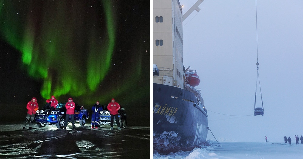 Атомный ледокол подбросил путешественников до ближайшего порта. Теперь они с уверенностью могут сказать, что добирались ледостопом