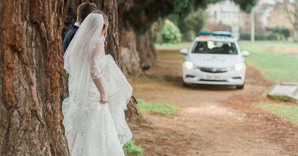 Это была обычная свадебная фотосессия, но что-то пошло не так, и всё закончилось полицейской облавой