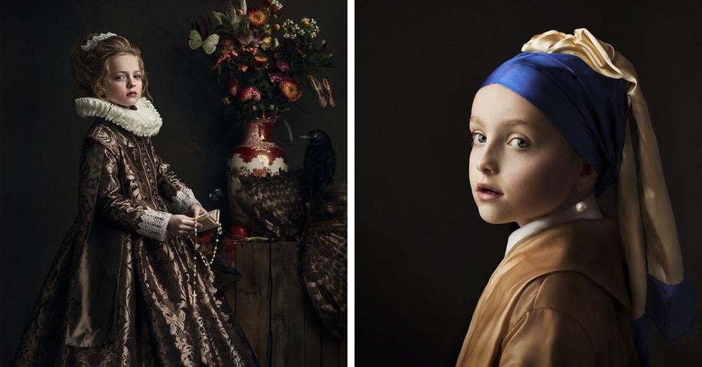 Голландский фотограф создала серию работ, вдохновившись творениями художников, и отличить её снимки от картин золотого века не так-то просто
