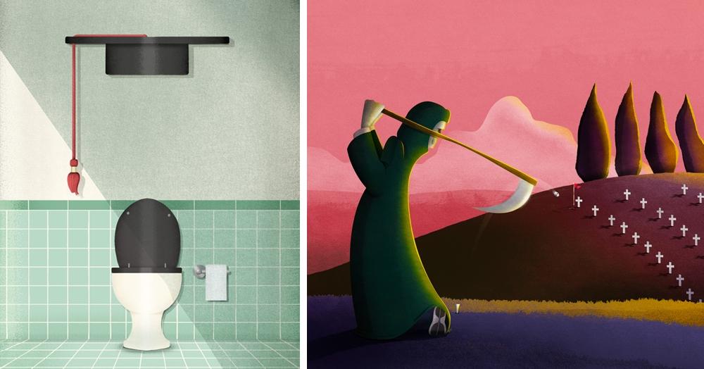 Итальянская художница иллюстрирует остро-социальные темы, глядя на них через призму сатиры. Смеяться или плакать — не ясно