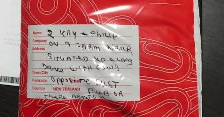 На почту Новой Зеландии пришла посылка с самым загадочным указанием адреса в истории. Но работники решили не возвращать её и отправились на поиски получателей