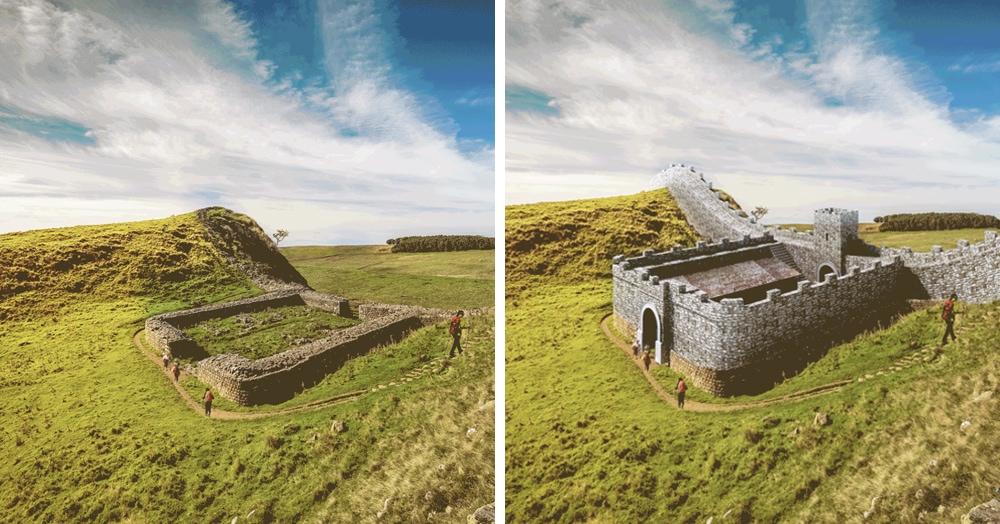Дизайнеры воссоздали первоначальный облик древних руин с помощью GIF-анимаций. Процесс действительно завораживает