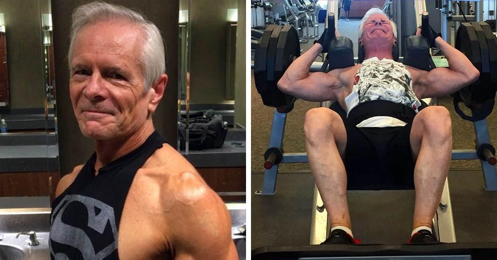 Мужчина доказывает, что годы мышцам не помеха, и догадаться о его возрасте с первого взгляда просто невозможно