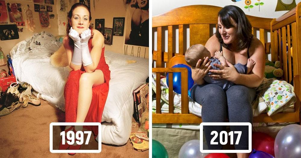 Фотограф воссоздает снимки соседей, сделанные 20 лет назад, чтобы показать, как меняются люди за это время