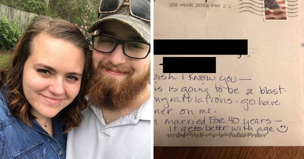 Пара отправила приглашение на свадьбу и ошиблась адресом. Но через некоторое время неожиданно пришёл ответ