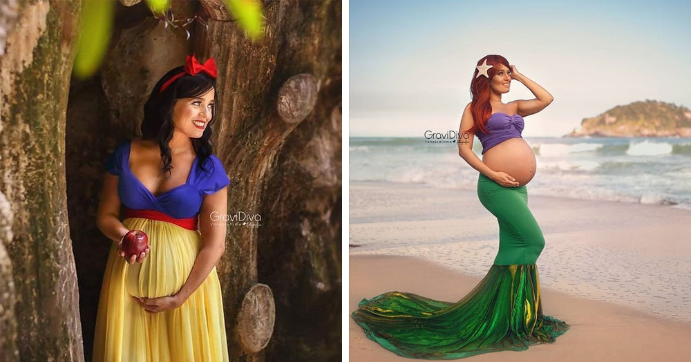 Ожидая своих малышей, будущие мамочки превращаются в самых настоящих диснеевских принцесс. А всё благодаря одному талантливому фотографу