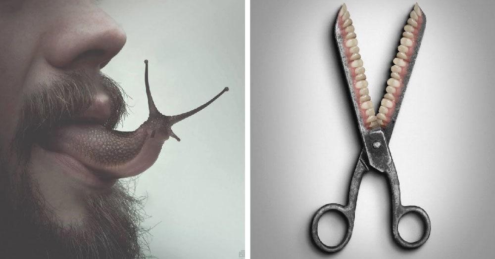Цифровой художник из Македонии создаёт сюрреалистические коллажи, которые заставят вас вздрогнуть и побежать к маме