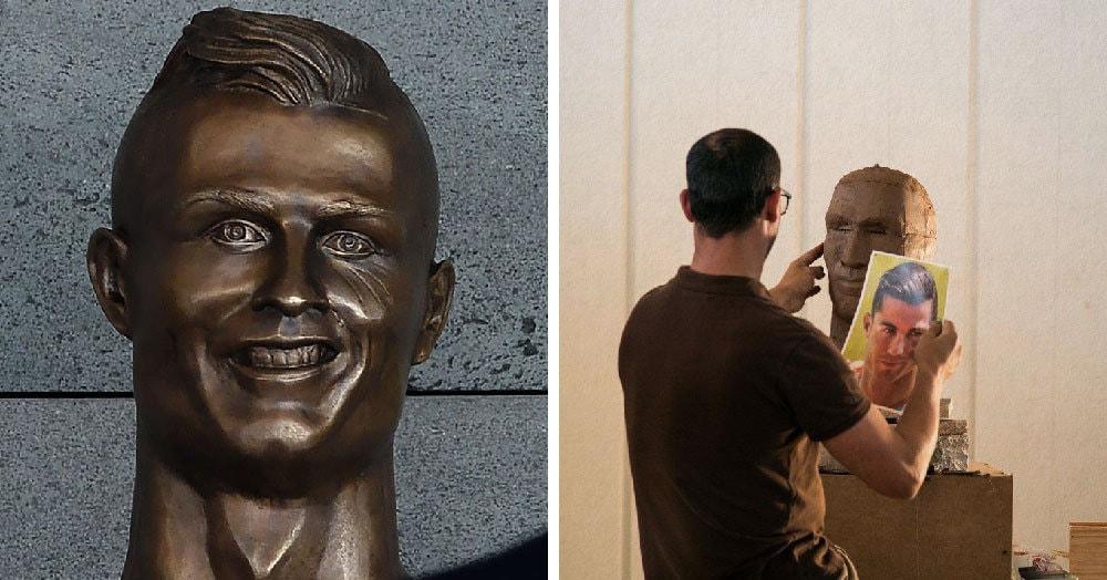 Год назад скульптор создал бюст Роналду, но его не оценили. Творец расстроился, но решил попробовать еще раз