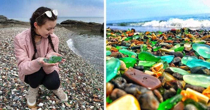 Когда-то на этот пляж Владивостока сбрасывали мусор, но океан сам всё исправил, и теперь это место привлекает туристов со всего мира