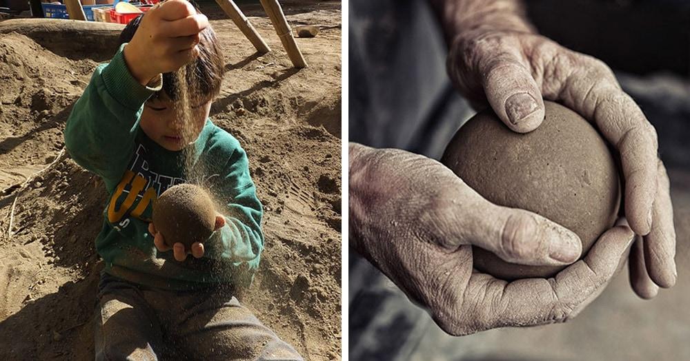 Японцы полируют шары из грязи и воды, доводя их до идеально круглой формы. И результаты поражают