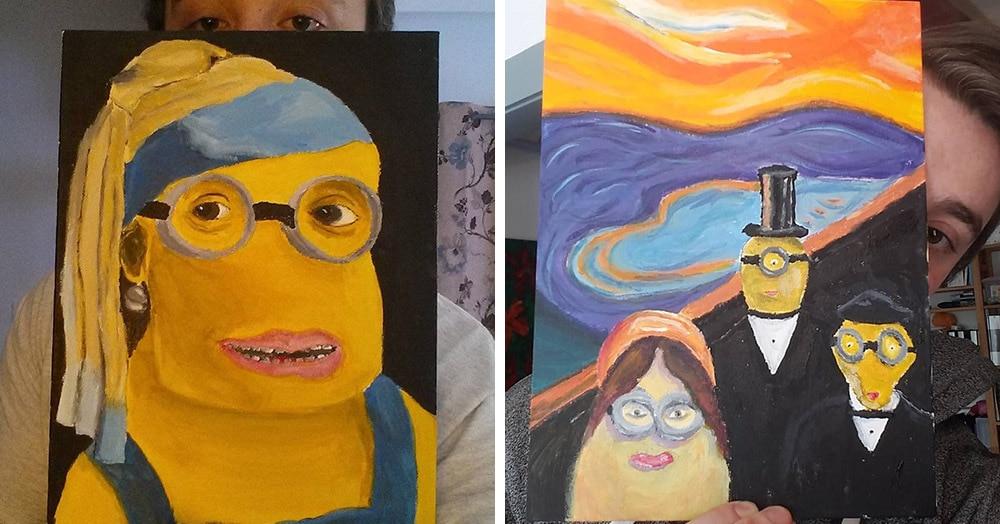 Парень изображает миньонов на шедеврах живописи и делает это так пугающе, что получается даже хорошо