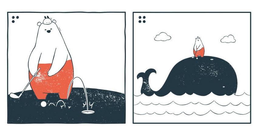 19 забавных комиксов с чёрным юмором и неожиданными концовками, в которых нет никаких диалогов