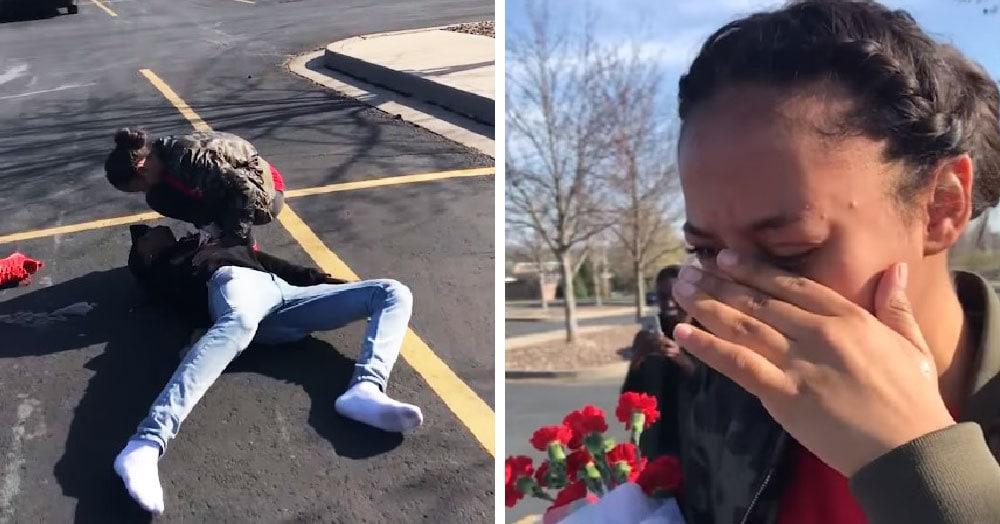 Девушка попросила парня позвать её на выпускной так, чтобы она расплакалась. Он справился на 100%