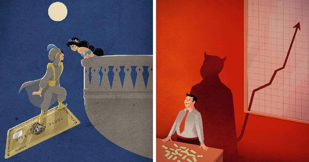 Этот художник показывает всю абсурдность современной жизни через свои яркие иллюстрации