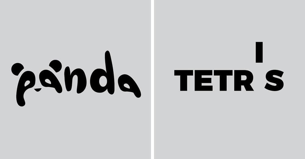 Дизайнер создаёт логотипы с игрой слов, и искать спрятанные в них значения — одно удовольствие