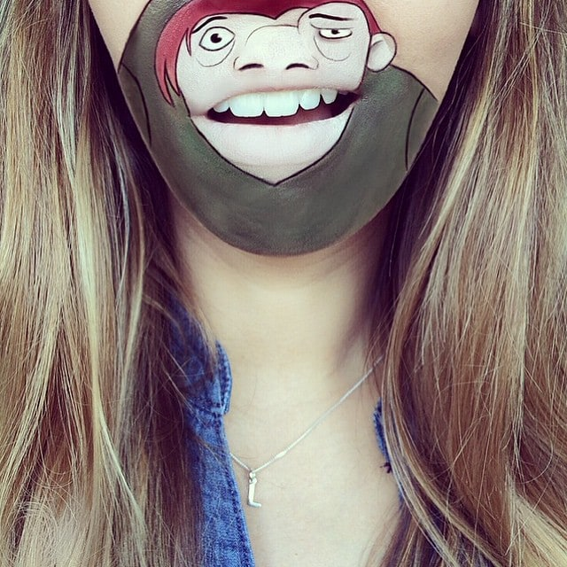 laurajenkinson 11333477 1612691099004063 189055865 n - Эта девушка с помощью макияжа превращает свои губы в мультяшных героев. Получается очень забавно