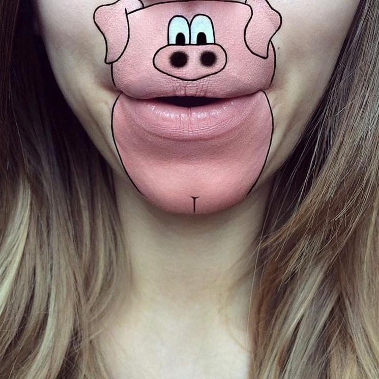 laurajenkinson 23099159 297103417471273 6254660534138830848 n - Эта девушка с помощью макияжа превращает свои губы в мультяшных героев. Получается очень забавно