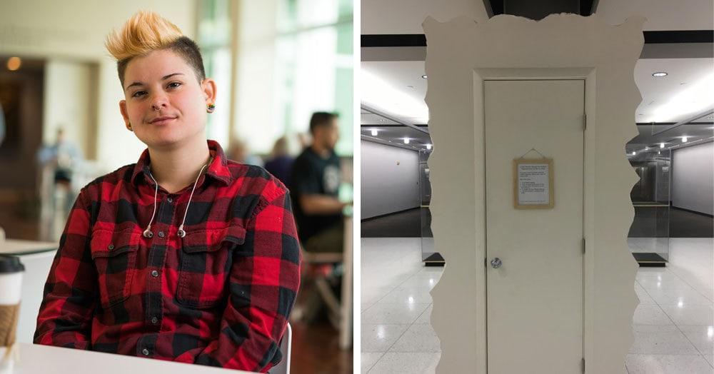Девушка построила «Плакательный шкаф» для студентов, где можно выплакаться. Если следовать правилам