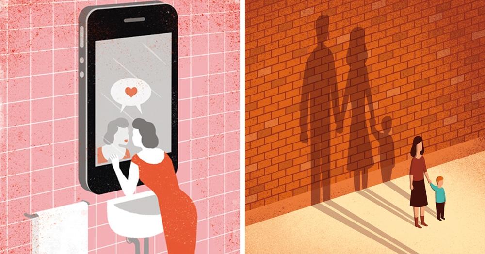 Итальянец создаёт умные иллюстрации о современном мире, в которых нет ничего лишнего
