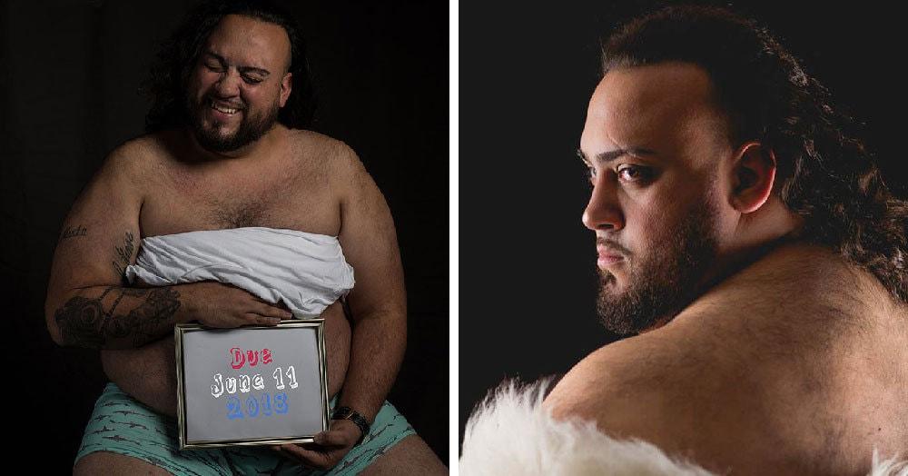 Жена отказалась фотографироваться беременной, и муж решил всё сделать сам