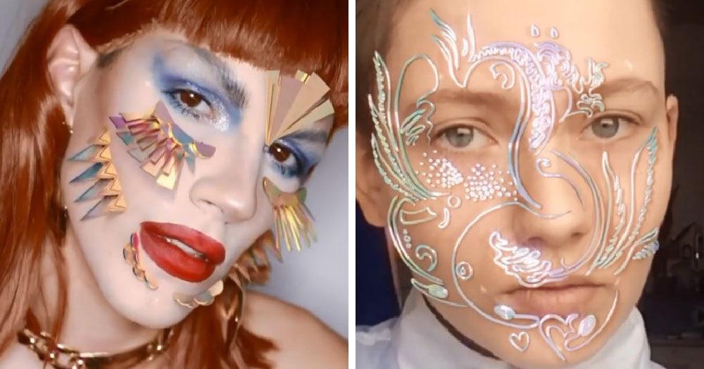 Парижанка делает 3D-макияж, который перевернёт все ваши представления о нестандартности
