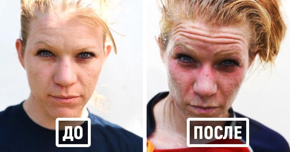 Фотограф делает мощные портреты спортсменов до и после соревнований. И вот что у него получилось