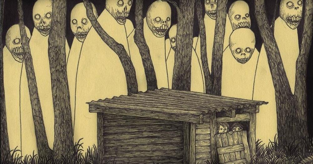 30 рисунков датского художника, после которых даже взрослым захочется спать с включённым светом