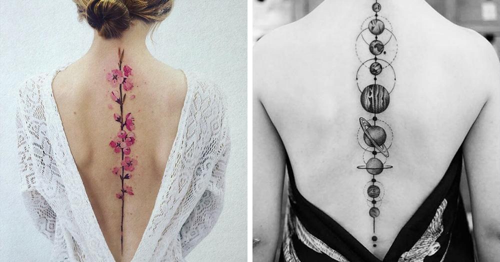 20 крутых идей для татуировок на позвоночнике, которые заставят окружающих кричать комплименты вам вслед