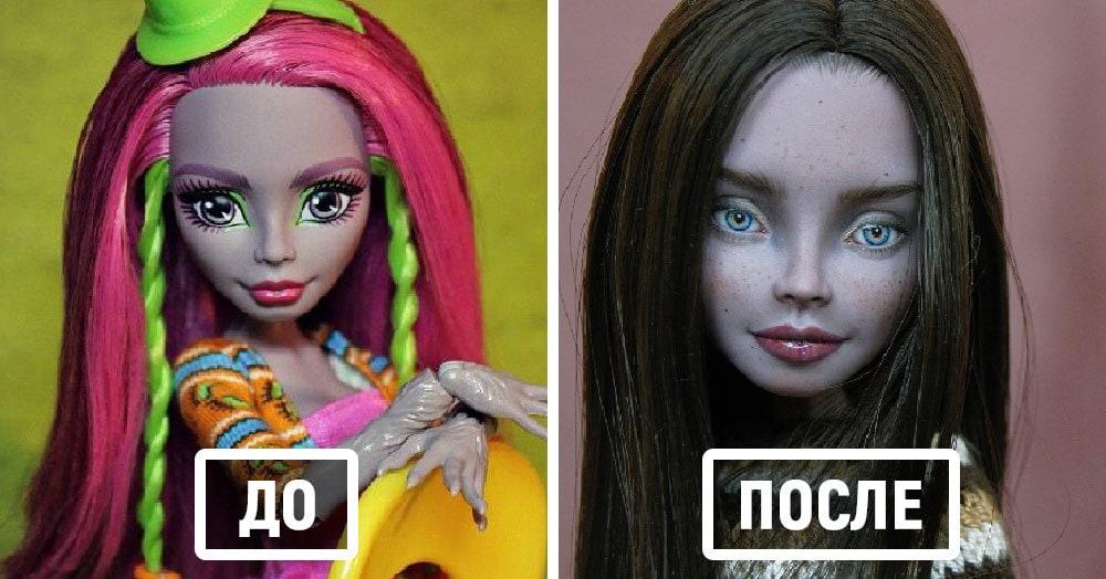 Художница стирает макияж с кукол и рисует им настолько реалистичные лица, что кажется, они вот-вот оживут
