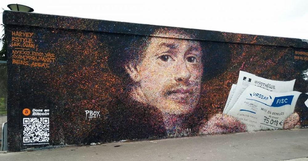 Уличный художник заработал 1000 долларов, добавив к своим граффити одну хитрую деталь