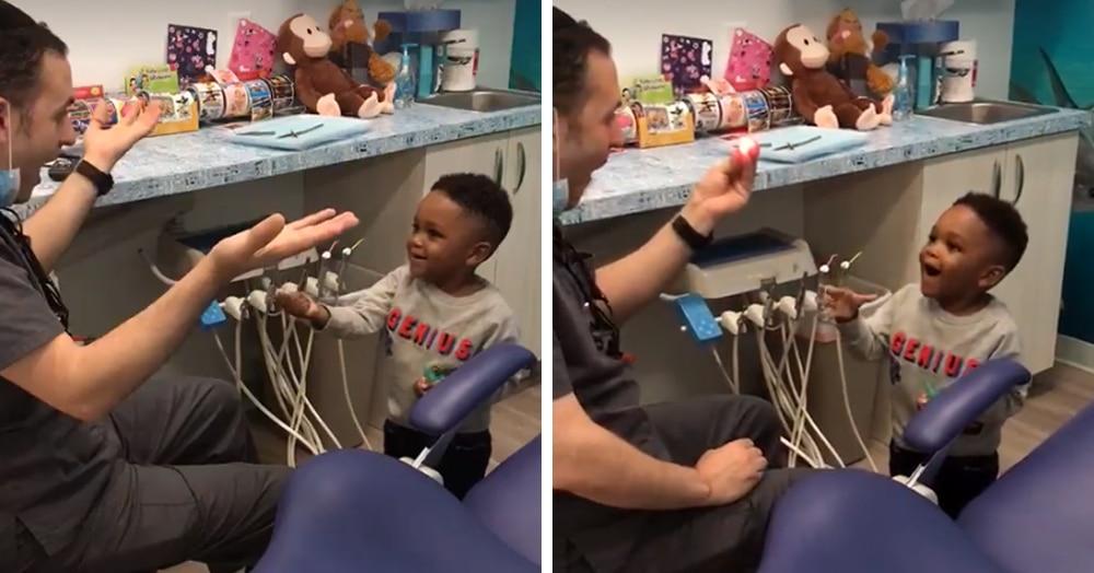 Стоматолог придумал, как успокоить маленького пациента, и от такого не отказались бы даже взрослые
