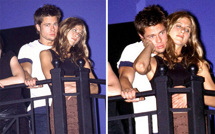 First Photo Of Brad Pitt And Jennifer Aniston Together, At A Concert In L.A., June 1998
