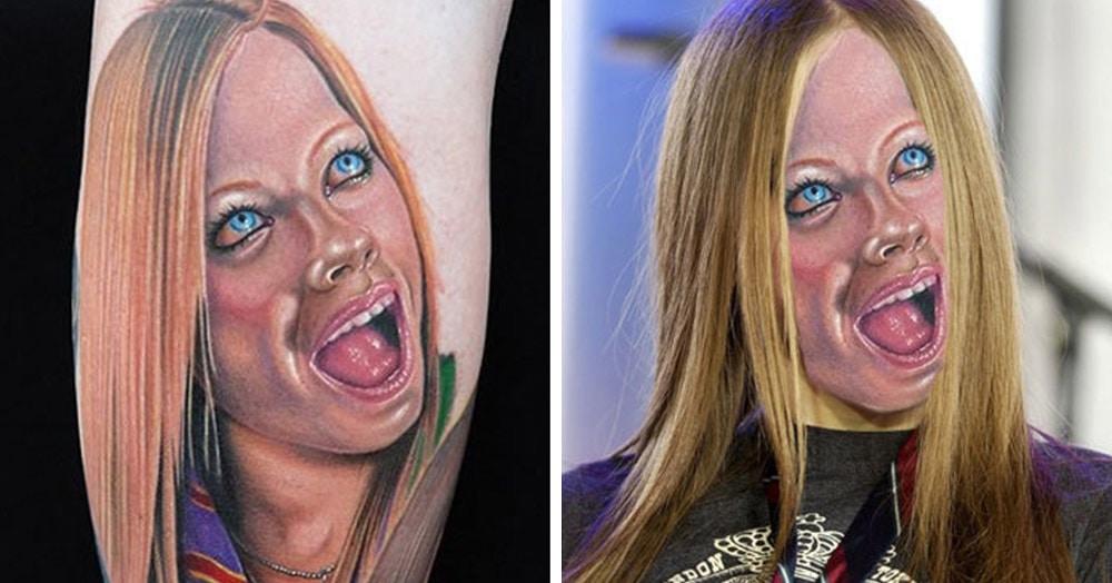 20 неудачных татуировок, перенесённых в реальную жизнь, которые и пугают, и смешат одновременно