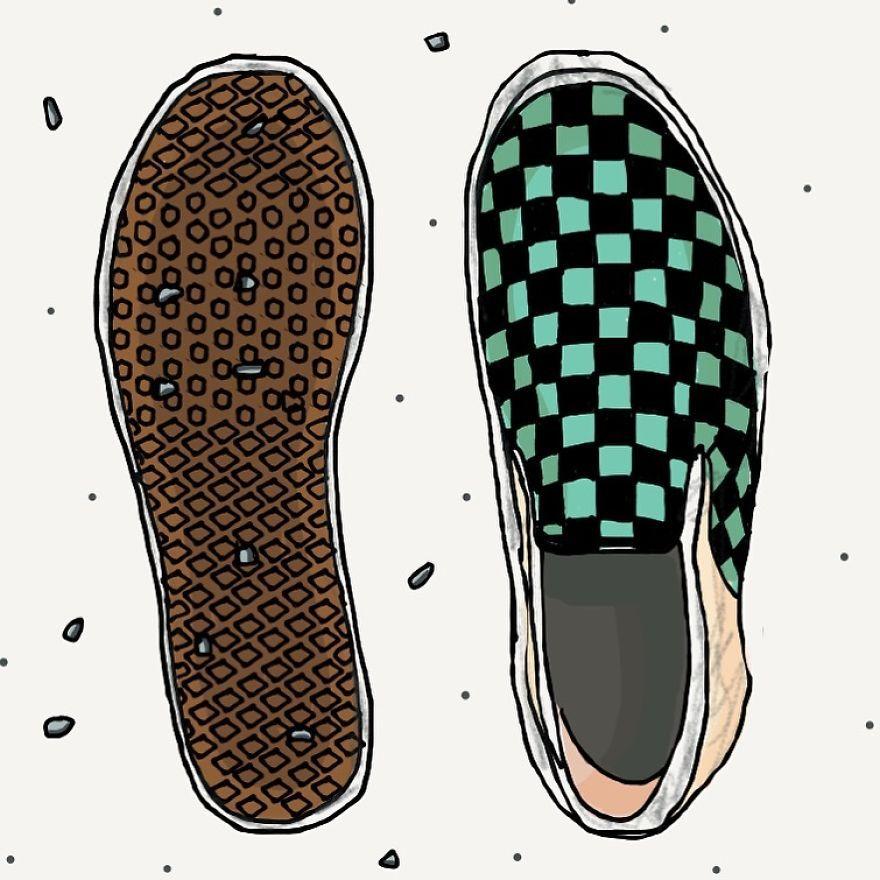 Stones Get Stuck In My Vans' Shoe Soles