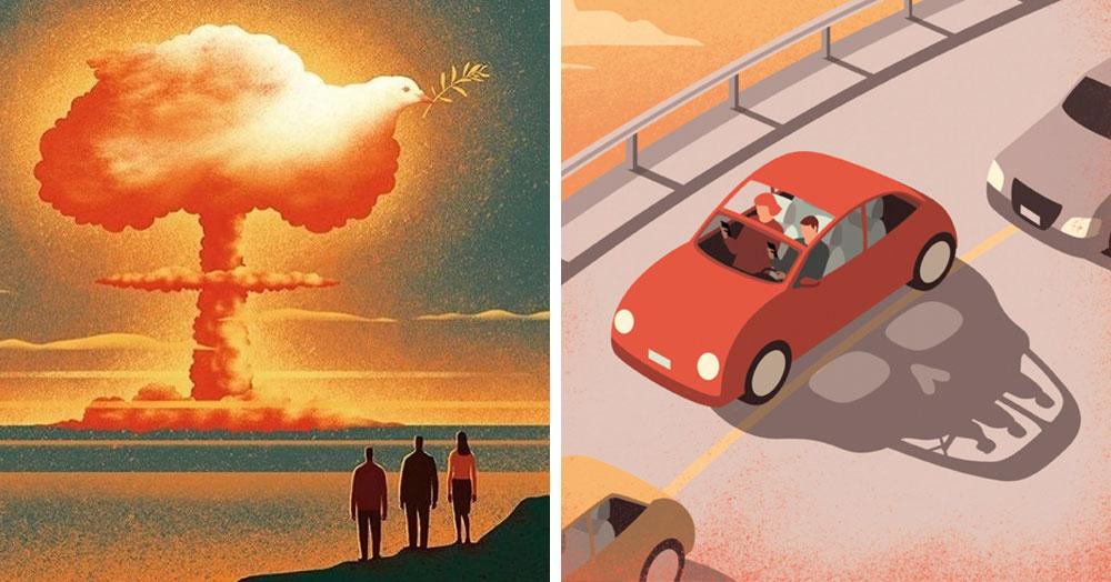 Итальянский художник в своих рисунках отображает не самые красивые аспекты жизни, и делает это остро и честно