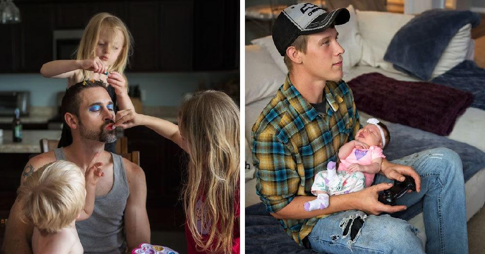Девушка-фотограф показала, насколько разными могут быть отцы маленьких детей. Но кое-что общее у них всё же есть