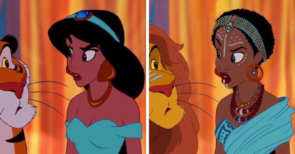 Художник представил, что было бы, если диснеевские принцессы вдруг сменили расу. И многим даже идёт