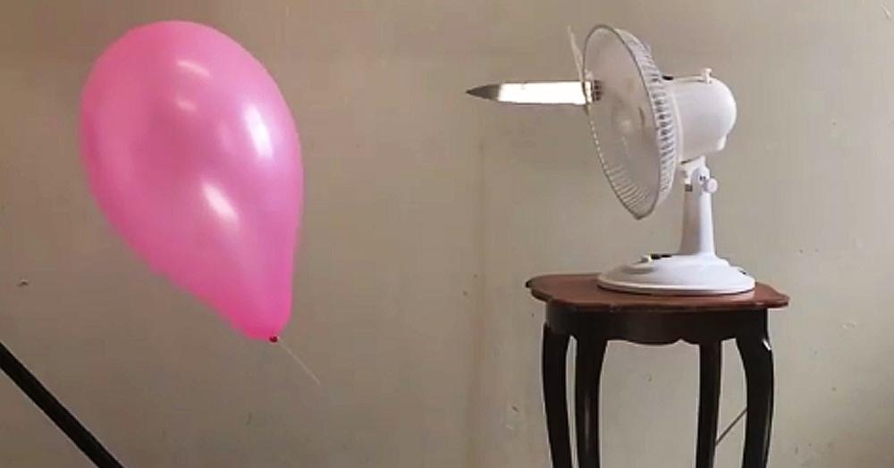 Мужчина создал очень тревожное видео. А его герои — всего лишь воздушный шарик и вентилятор с ножом