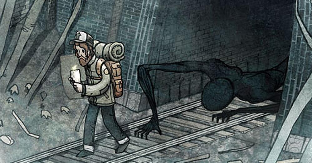 Художник создаёт комиксы о том, что происходит за спиной. 20 причин никогда больше не оборачиваться