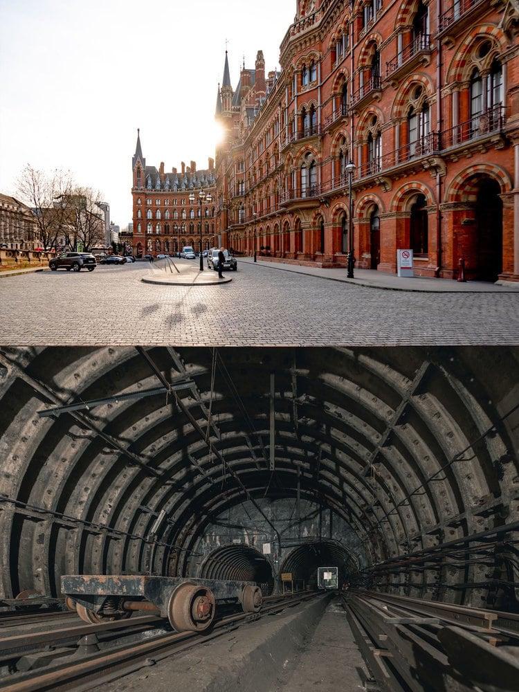 ENGLAND: The St. Pancras Renaissance Hotel lies above London Postal Museum