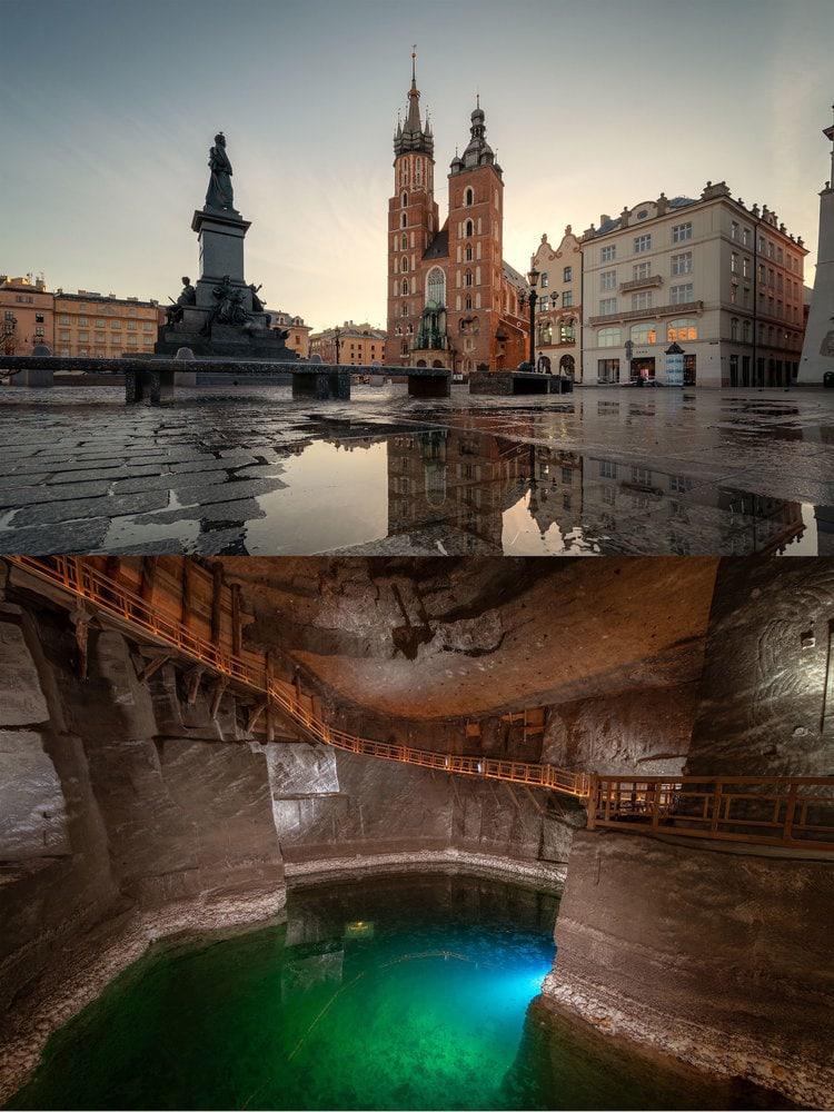 POLAND: The Wieliczka salt mines are located near Krakow.